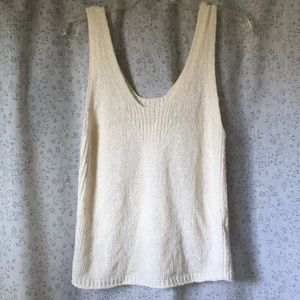 Madewell Texture and Thread ivory tank sweater